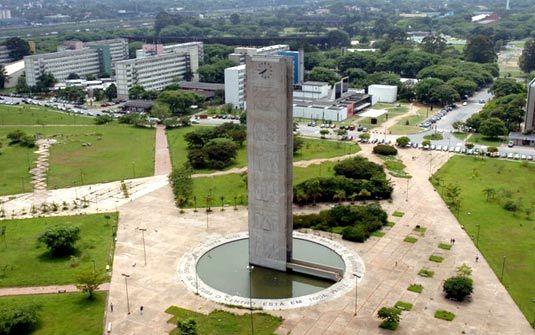 Praça do Relógio no Campus da USP