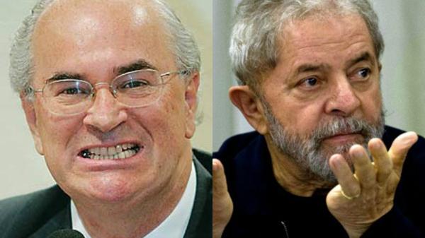 Roberto Texeira e Lula.