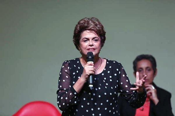 Dilma discursou durante lançamento do livro A Resistência ao Golpe de 2016