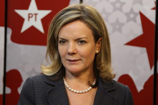 A senadora Gleisi Hoffmann foi ministra da Casa Civil de Dilma