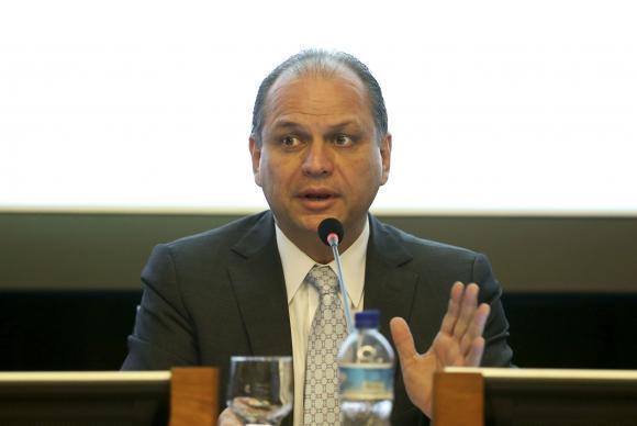 O ministro da Saúde, Ricardo Barros, participa de reunião da Comissão Gestora Tripartite
