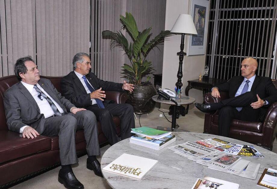 Reunião com o ministro da Justiça, Alexandre de Moraes