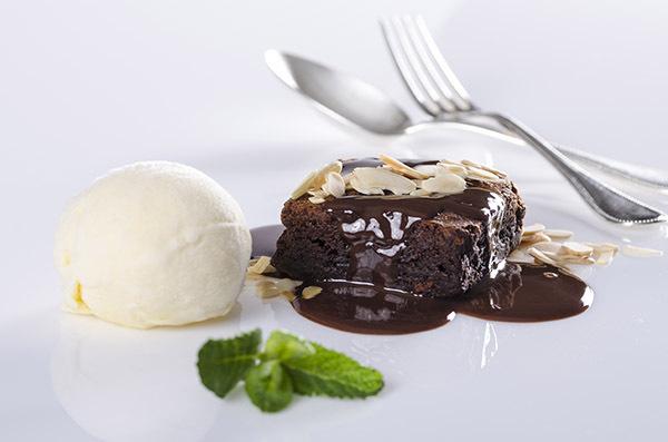 Sobremesa Brownie com Sorvete