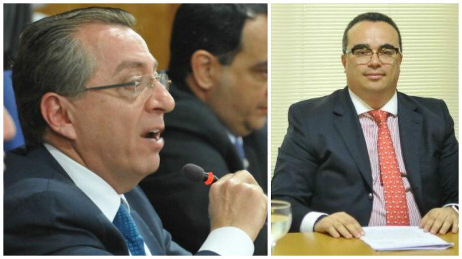 O presidente da OAB-MS, Mansour Elias Karmouche, e o advogado Danny Fabrício, que entrou com ação para suspender eleição.