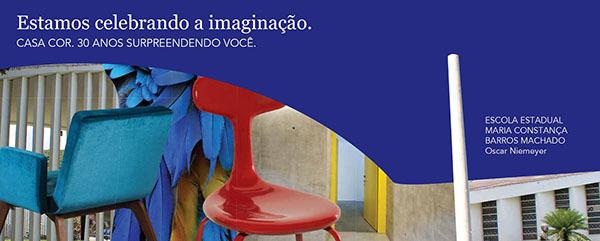 As peças da campanha revelam toda a sinergia que os traços da escola têm com a linguagem de CASA COR, sua contemporaneidade e harmonia com a mostra e com clássicos do design e da arquitetura
