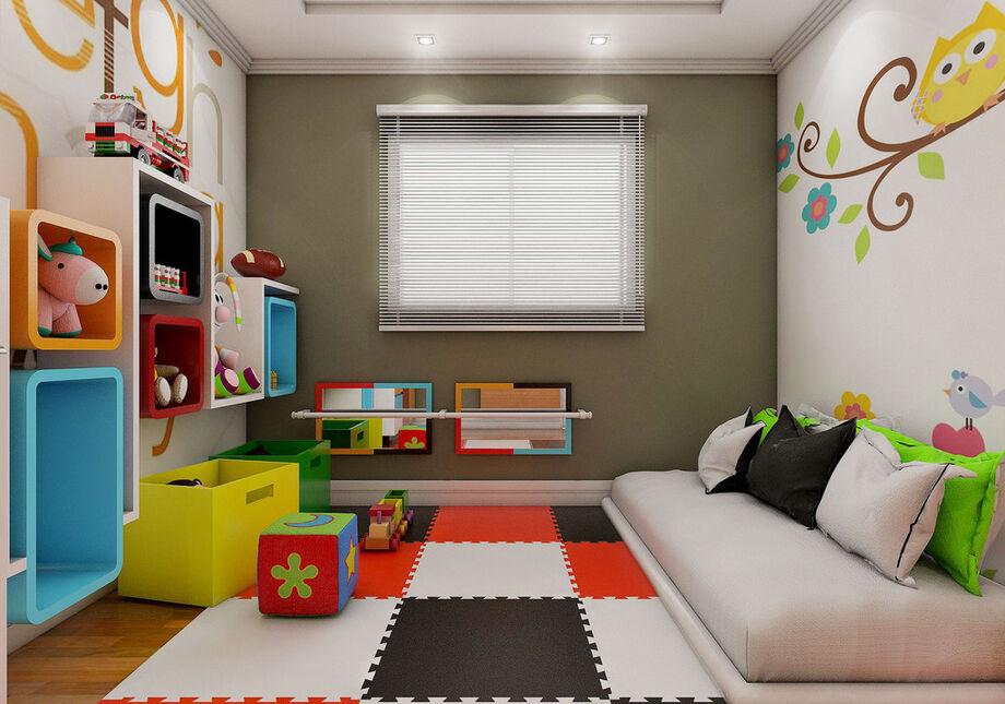 A ideia não é que a criança escale a cama para dormir, porque isso não é relaxante
