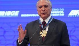 Brasília - O presidente Michel Temer participa da cerimônia de abertura do 3 Encontro Nacional de Chefes de Agências do Instituto Brasileiro de Geografia e Estatística (Antonio Cruz/ Agência Brasil)