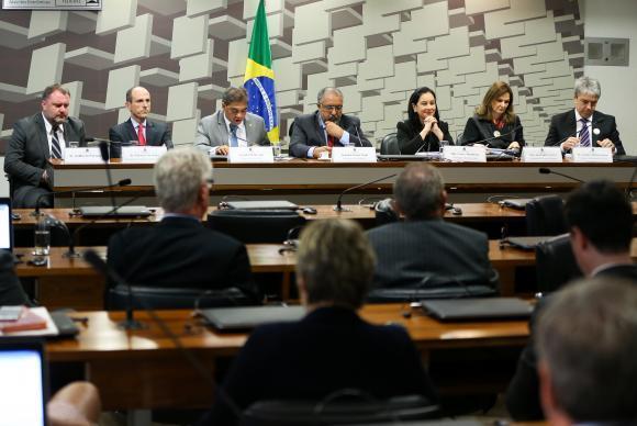 Brasília - Audiência pública na Comissão Parlamentar de Inquérito (CPI) da Previdência no Senado (Marcelo Camargo/Agência Brasil)