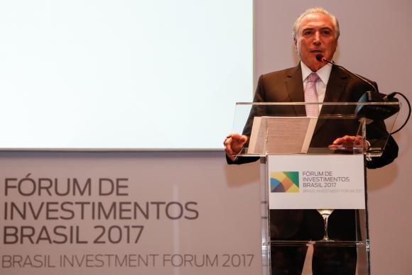 São Paulo - Presidente Michel Temer participa de jantar por ocasião do Fórum de Investimentos Brasil 2017 (Marcos Corrêa/PR)