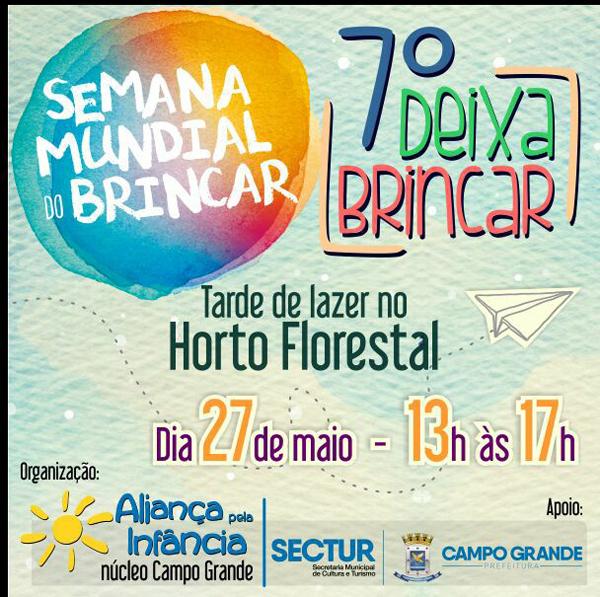 O projeto acontece em alusão ao Dia Internacional do Brincar, comemorado no dia 31 de maio