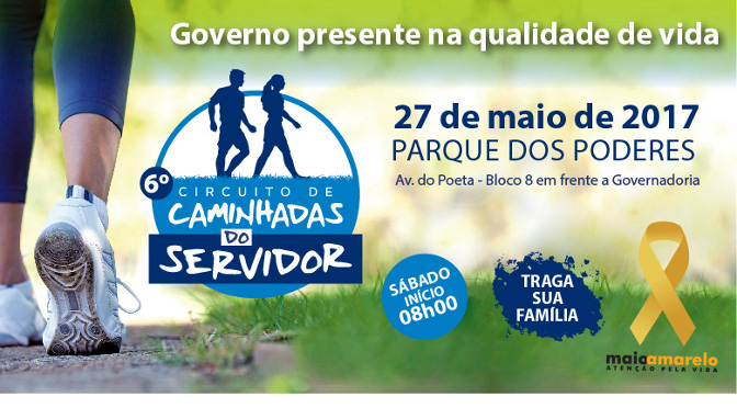 Com objetivo de estimular a prática de exercícios físicos entre os funcionários do executivo estadual, o Governo de Mato Grosso do Sul realiza mais uma edição da tradicional caminhada