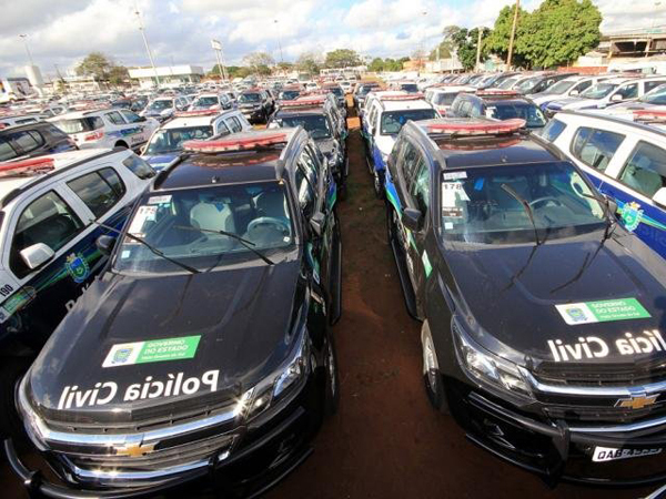Os veículos modelos Trailblazer e até descaracterizados serão destinados para todas as forças de segurança do Estado