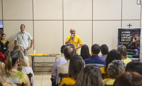 Secretário da SAD, Carlos Assis, vestiu a camisa e destacou a consciência para um trânsito mais seguro