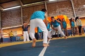 A apresentação dos alunos foi pontuada por diversos elementos das duas culturas