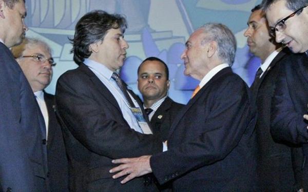 Pedro Caravina, se encontrou na manhã desta terça-feira (16) com o presidente da República, Michel Temer