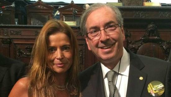O ex-presidente da Câmara Eduardo Cunha (PMDB-RJ) e a sua mulher, Cláudia Cruz