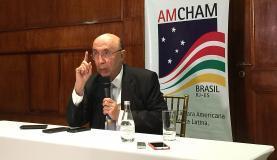 Henrique Meirelles participou da posse da nova diretoria da Câmara de Comércio Americana do Rio de Janeiro