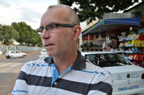 Representante dos auxiliares de táxi, Edinaldo Ribeiro