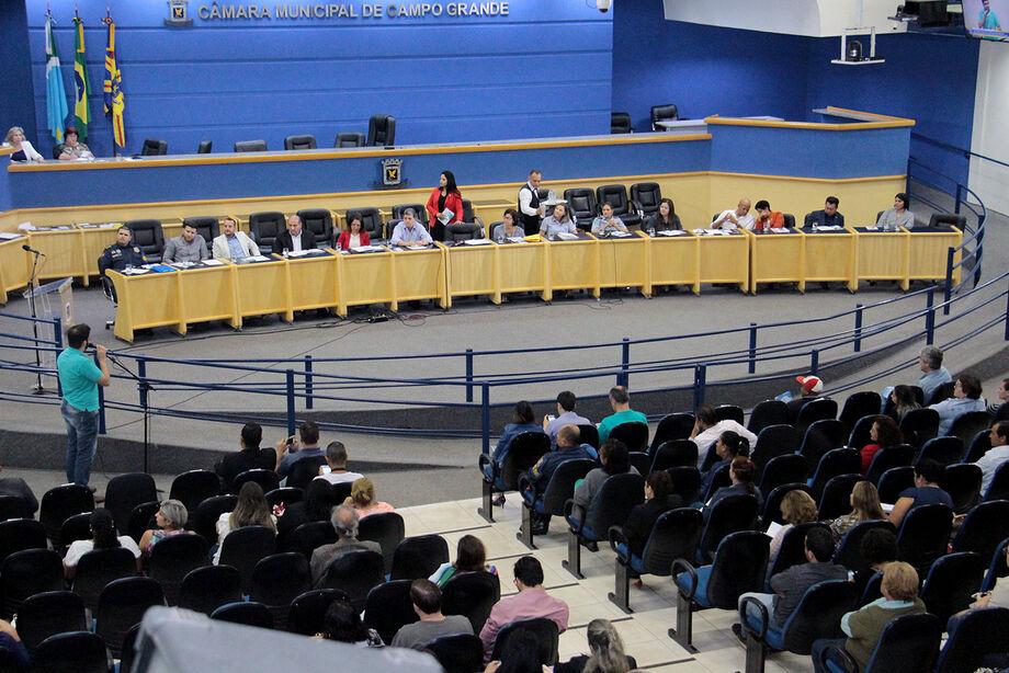 Audiência foi realizada na Câmara Municipal