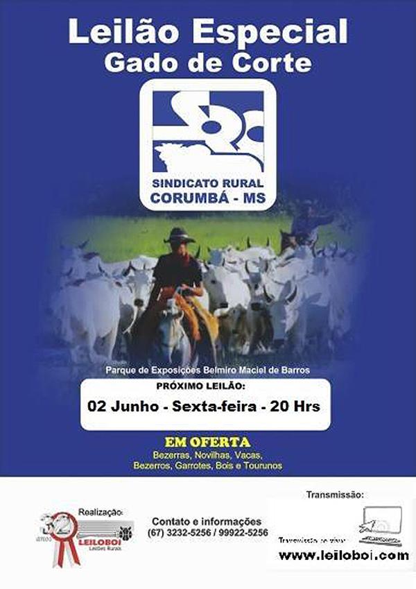 O leilão terá transmissão ao vivo pela AgroBrasilTV e com lances também pela internet