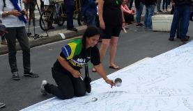 Manifestantes no Rio de Janeiro