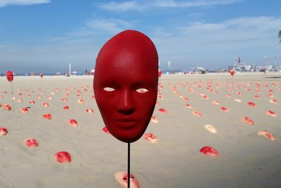 ato contra a corrupção na praia de Copacabana, no Rio de Janeiro