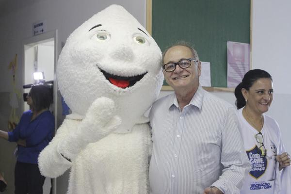 Em Campo Grande, o lançamento da campanha aconteceu na UBS do bairro Ana Maria do Couto e o vereador Dr. Wilson Sami (PMDB) esteve presente
