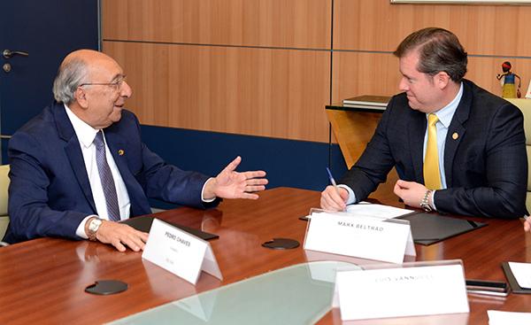Senador Pedro Chaves com o ministro Marx Beltrão