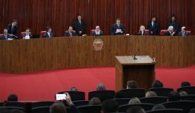 Brasília - O Tribunal Superior Eleitoral (TSE) retoma o julgamento da ação em que o PSDB pede a cassação da chapa Dilma-Temer, vencedora das eleições presidenciais de 2014 (Fabio Rodrigues Pozzebom/Agê