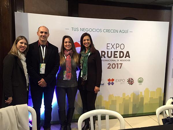 Ao longo da quarta-feira, a gerente do CIN da Fiems, Fernanda Barbeta, participou de rodada de negócios entre empresários dos dois países