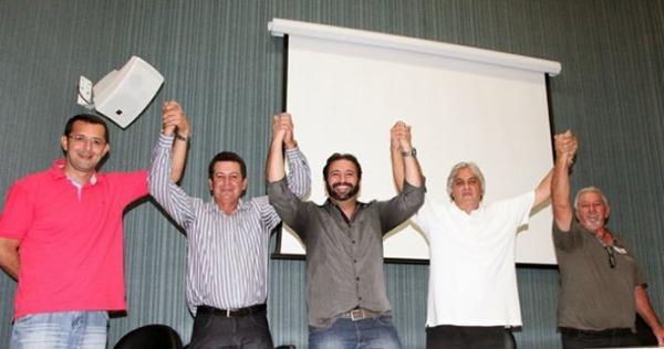Delcídio em ato político do PTC em Campo Grande