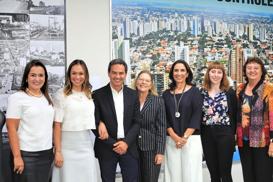 A Embaixadora da República da Áustria Drª Irene Giner-Reichi, que está em Campo Grande institucional em Campo Grande, se reuniu com o prefeito Marquinhos Trad