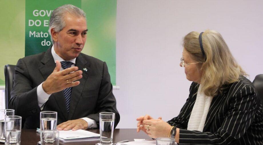 Reunião da embaixadora Irene Giner-Reichi com o governador Reinaldo Azambuja.
