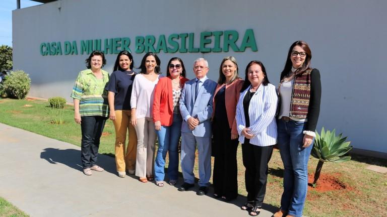 Um grupo do estado de Alagoas veio conhecer a Casa da Mulher Brasileira de Campo Grande