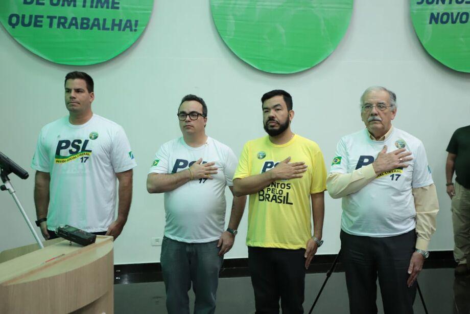 Em busca de uma política transparente e limpa, centenas de pessoas participaram da grande Campanha Nacional de Filiação do PSL – Partido Social Liberal realizada, nesse sábado (17), em diversas cidades de Mato Grosso do Sul