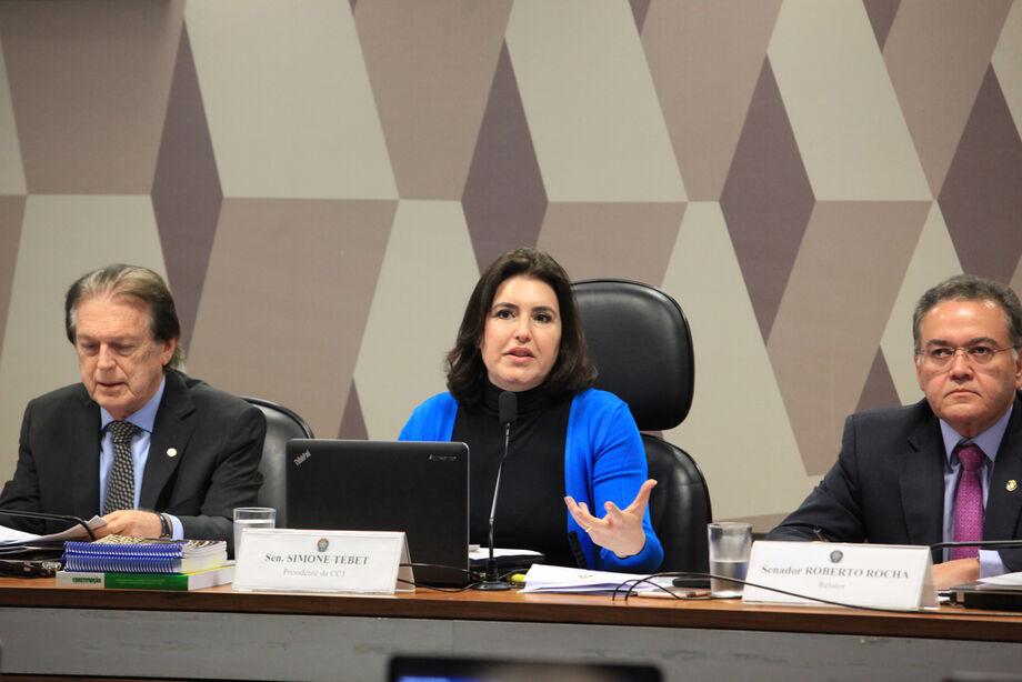 Simone Tebet fez a declaração ao abrir a audiência pública na CCJ sobre Reforma Tributária