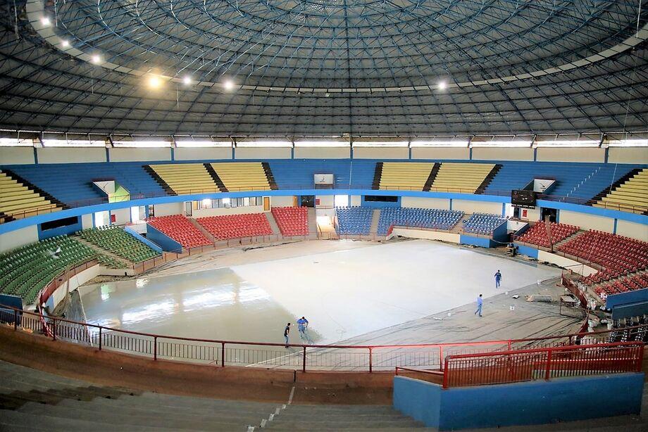 As obras do Ginásio Poliesportivo Avelino dos Reis, o Guanandizão, estão 70% concluídas