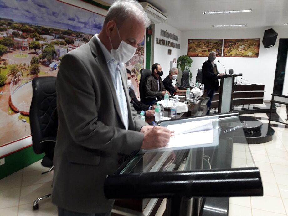 A ordem de início dos serviços foi assinada na última sexta-feira (26.06), em evento realizado na Câmara de Vereadores