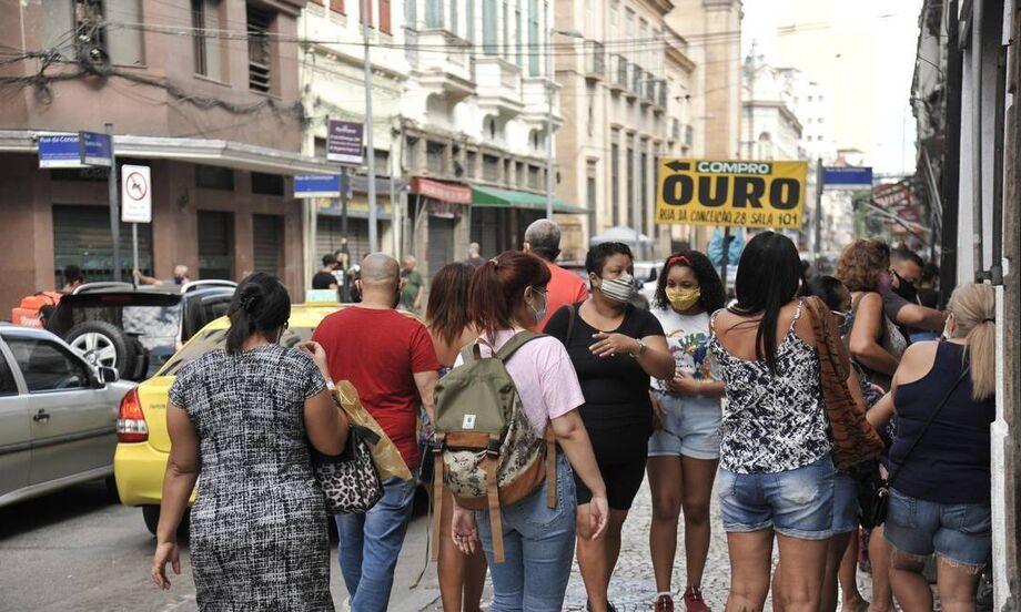 Movimento nas ruas do Rio