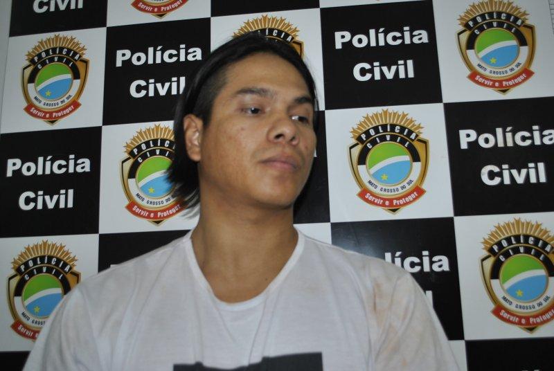 Foto de 2014 do Osvaldo, quando foi detido em uma suposta boca de fumo