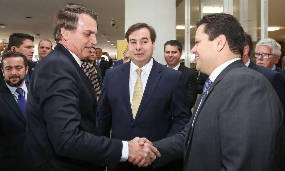Bolsonaro, Maia e Alcolumbre