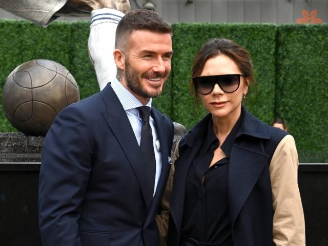 David Beckham e Victoria Beckham no Dignity Health Sports Park, em março de 2019