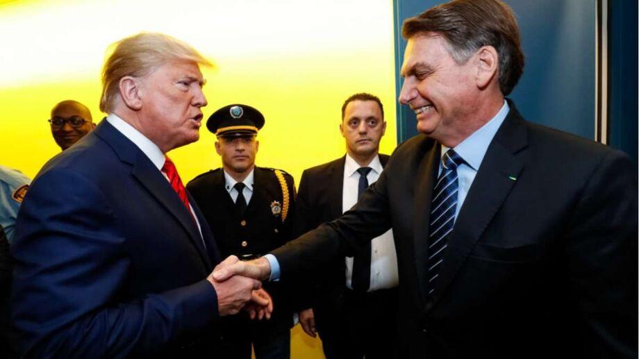 Presidente dos Estados Unidos, Donald Trump e o Presidente Jair Bolsonaro