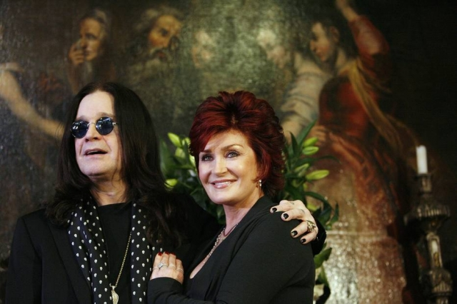 Ozzy e Sharon Osbourne em Beverly Hills, na Califórnia, em novembro de 2007