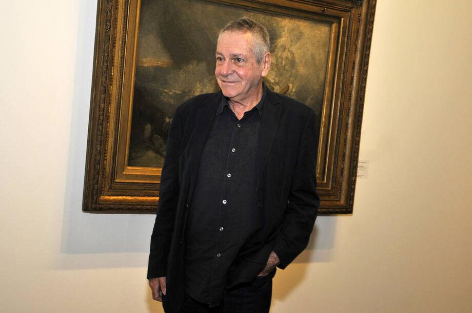 Antonio Bivar, em uma exposição na Pinacoteca de São Paulo, em 18 de julho de 2015