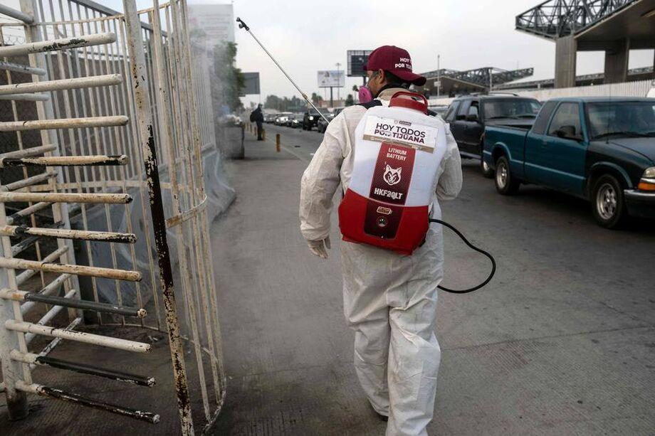 As barreiras foram incentivadas pelas autoridades mexicanas.