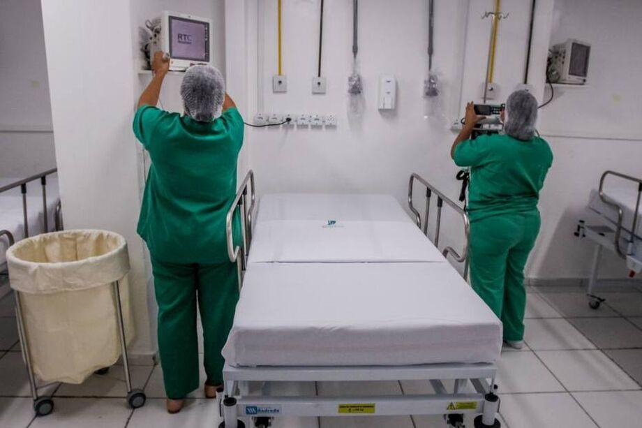 Leitos de UTI para pacientes com covid-19