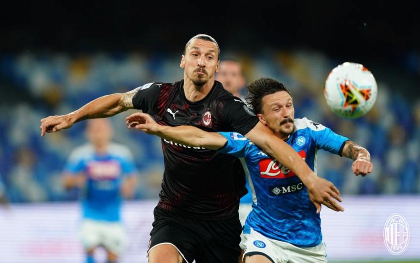 Napoli e Milan empataram por 2 a 2