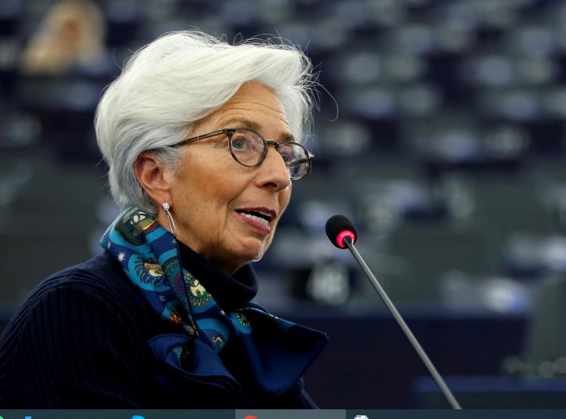 Repetindo detalhes do comunicado do BCE divulgado mais cedo, Lagarde disse que as taxas de juros do BCE vão seguir nos níveis atuais ou menores até a inflação do bloco voltar à meta oficial
