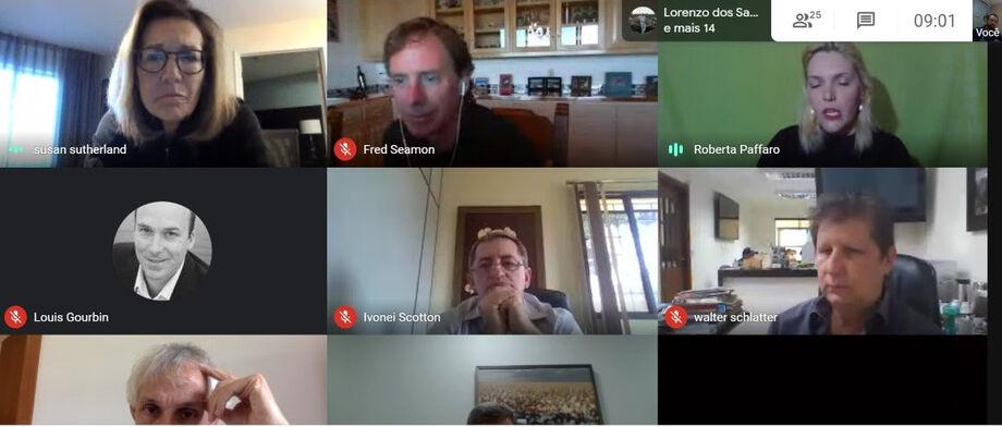 Reunião foi online